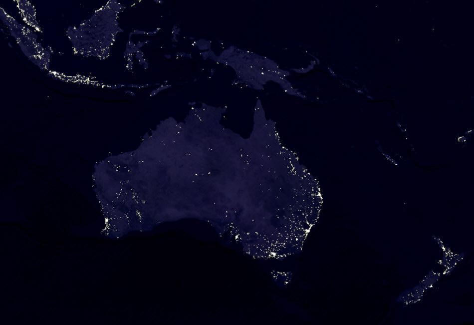 Australien Bei Nacht