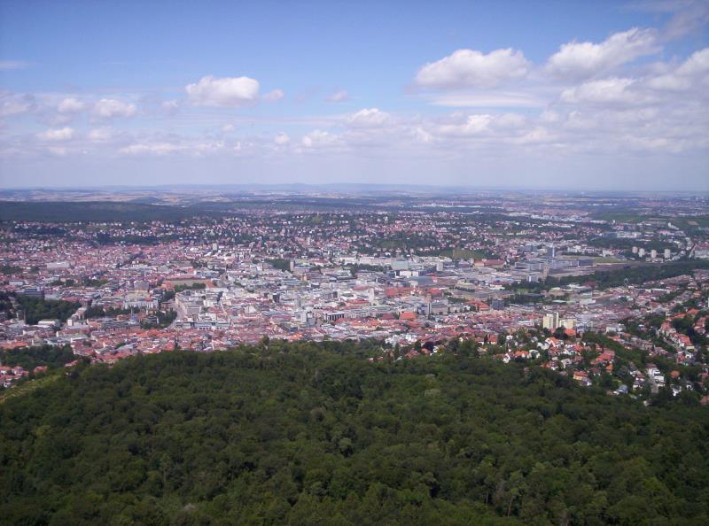 Blick vom Stuttgarter Fernsehturm - Deutschland