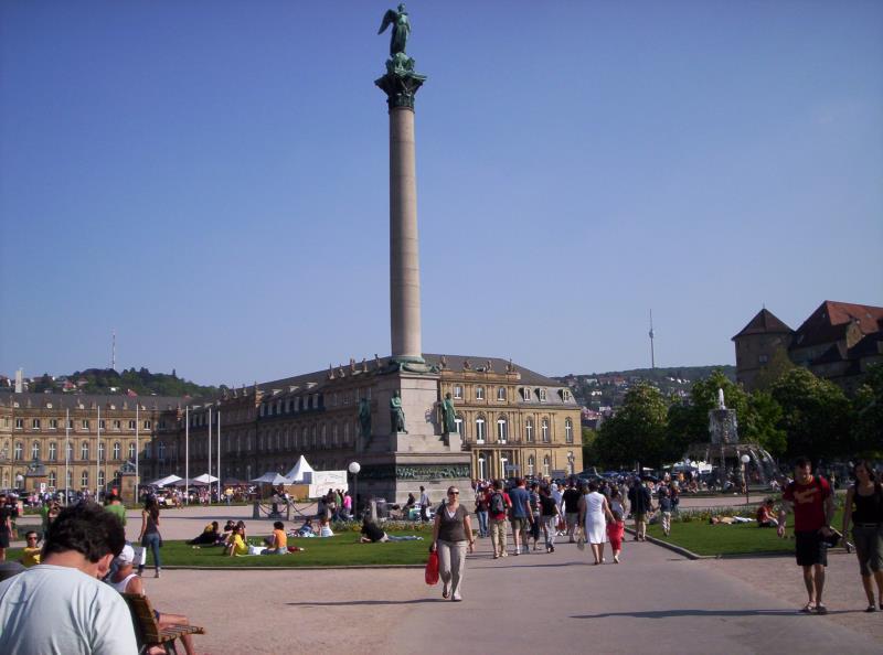 Stuttgarter Schlossplatz - Baden-Württemberg - Deutschland