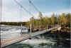 Hängebrücke am Trollforsen - Schweden